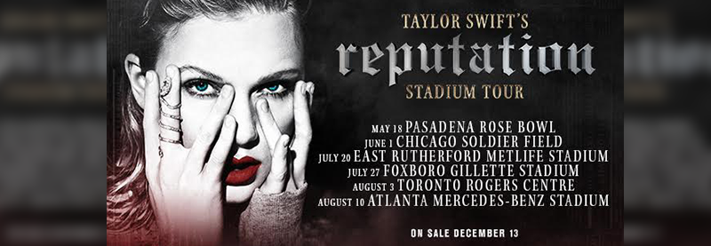 reputation Stadium Tour – Second Dates Added