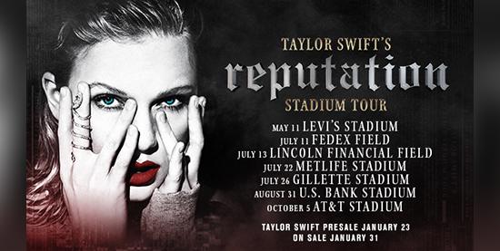 Taylor Announces Additional Reputation Tour Dates