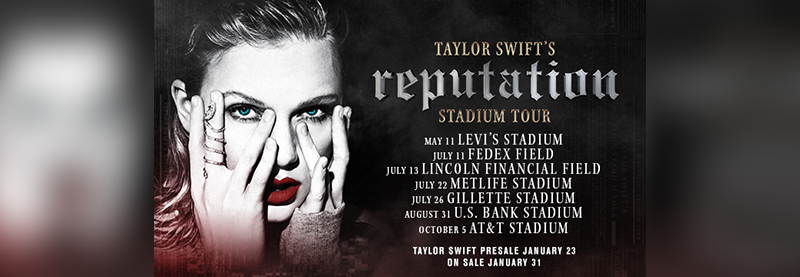 Taylor Announces Additional Reputation Tour Dates