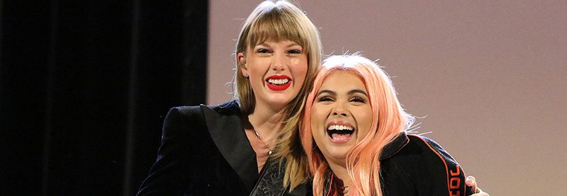 Taylor Makes Surprise Appearance at Ally Coalition Talent Show
