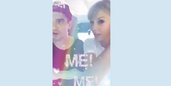 Taylor Goes Live on Instagram with Brendon Urie