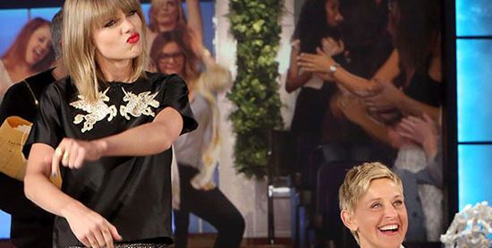 Taylor appearing on The Ellen Show on May 15th
