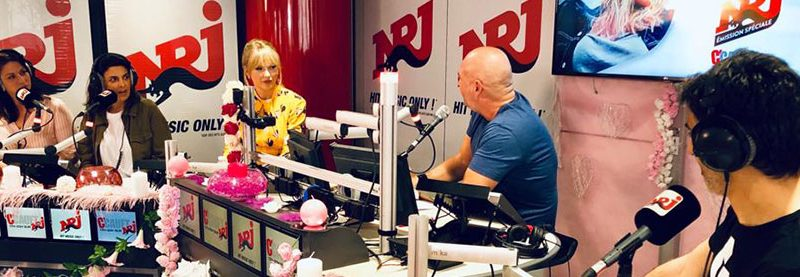Taylor interviewed on NRJ Radio