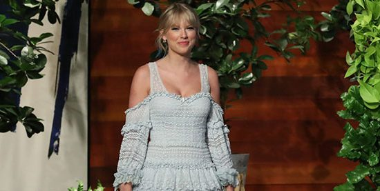 Taylor appears on The Ellen Degeneres Show