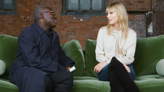 Taylor Tries Out Her Best British Slang On Edward Enninful for British Vogue