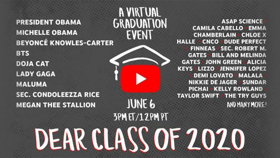 YouTube Graduation 2020: Taylor Joins Livestream With the Obamas
