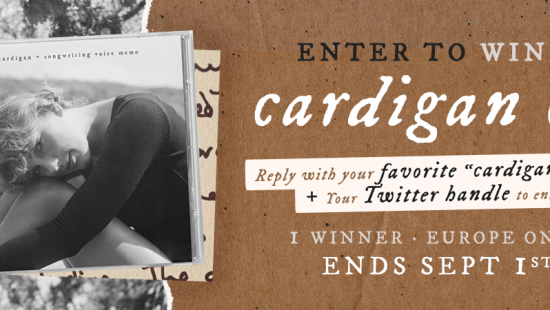 'cardigan' CD giveaway!