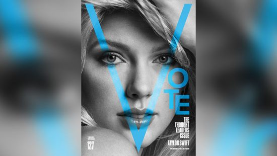 Taylor on the cover of V Magazine