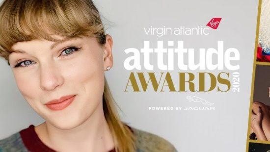 Taylor Wins Attitude Icon Award at the 2020 Virgin Atlantic Attitude Awards