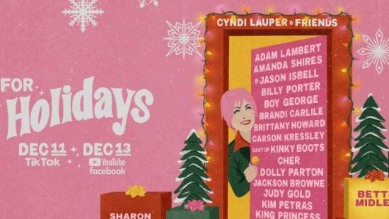 Taylor to Appear at Cyndi Lauper's Home For The Holidays benefit concert