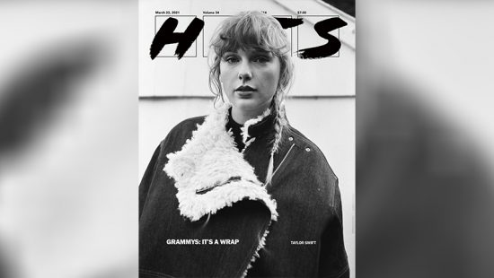 Taylor on the cover of Hits Magazine