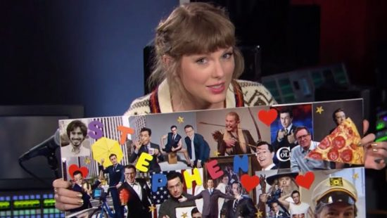 Taylor Appears On The Late Show with Stephen Colbert