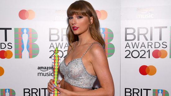 Taylor attends the 2021 BRIT Awards